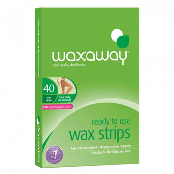 Waxaway Ready to Use Body Wax Strips Bulk 40pk