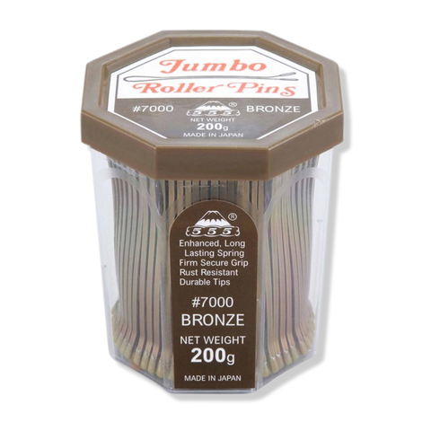 "555 Jumbo Roller Pins No.7000 3"" Bronze - Beautopia Hair & Beauty"