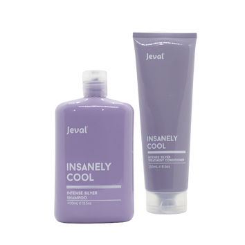 Jeval Insanely Cool Intense Silver Shampoo & Treatment Conditioner - Beautopia Hair & Beauty