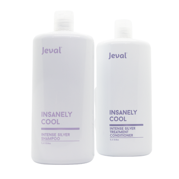 Jeval Insanely Cool Intense Silver Shampoo & Treatment Conditioner 1 litre - Beautopia Hair & Beauty