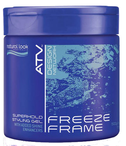 Natural Look ATV Freeze Frame Superhold Styling Gel 500g