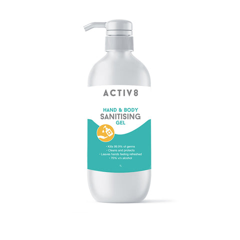 Activ8 Hand & Body Sanitiser Gel 1L