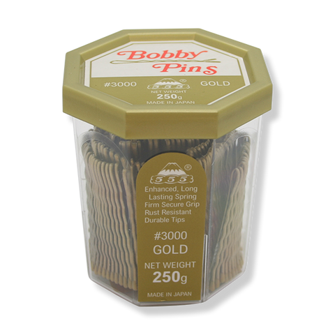 "555 Bobby Pins No.3000 2"" Gold - Beautopia Hair & Beauty"