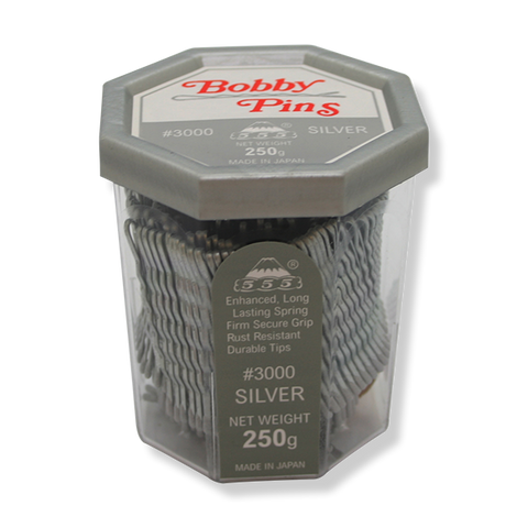 "555 Bobby Pins No.3000 2"" Silver - Beautopia Hair & Beauty"