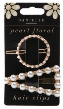 Danielle Creations Pearl Floral Hair Clips 2 Piece