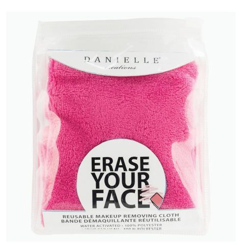 Danielle Creations Erase your Face Single Makeup Removing Cloth Pink