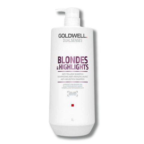Goldwell Dual Senses Blondes & Highlights Anti Yellow Conditioner 1 Litre - Beautopia Hair & Beauty