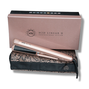 H2D Linear 11 Rose Gold Hair Straightener-H2D-Beautopia Hair & Beauty
