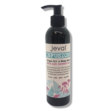 Jeval Infusions Argan Oil & Hemp Seed Lavender Bath & Shower Gel - 235ml-Jeval-Beautopia Hair & Beauty