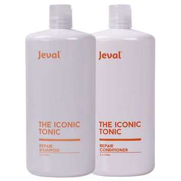 Jeval Iconic Tonic Repair Shampoo & Conditioner Duo 1 Litre