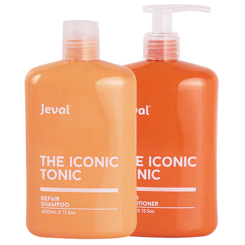 Jeval Iconic Tonic Repair Shampoo & Conditioner Duo 400ml