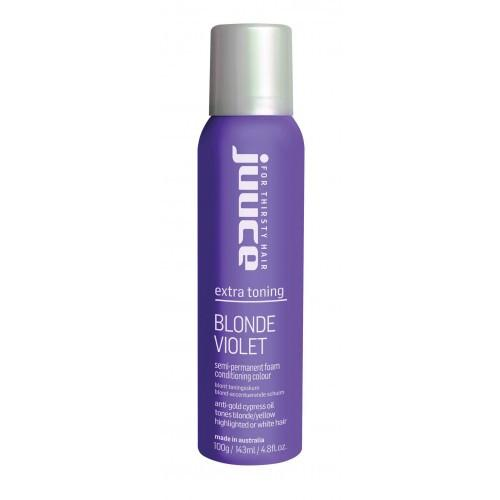 Juuce Extra Toning Blonde Violet Semi-Permanent Foam Conditioning Colour 100g-Juuce-Beautopia Hair & Beauty