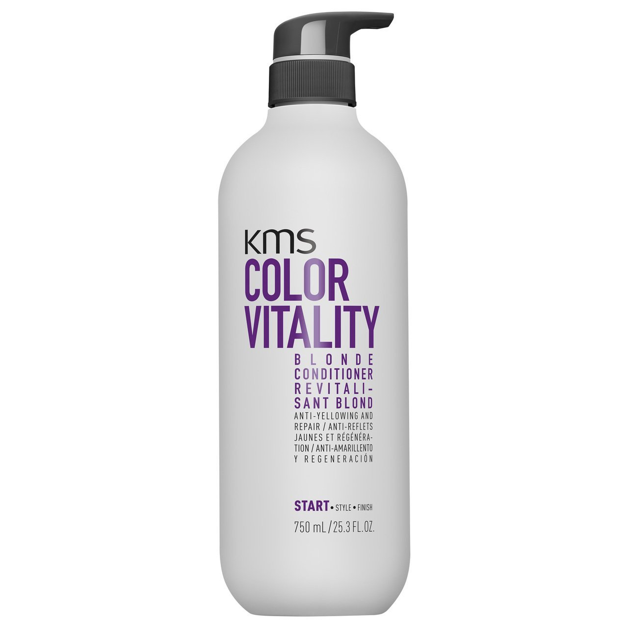 KMS Color Vitality Blonde Conditioner 750ml - Beautopia Hair & Beauty