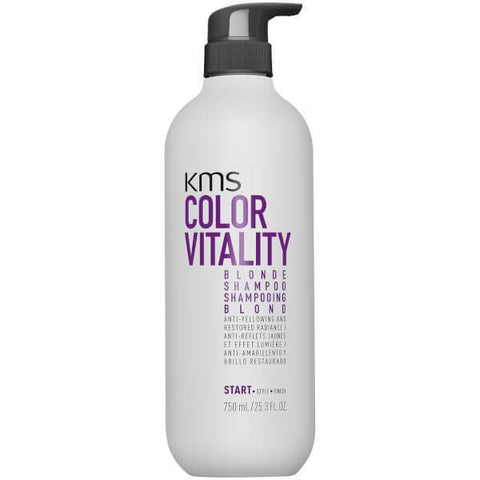 KMS Color Vitality Blonde Shampoo 750ml-KMS-Beautopia Hair & Beauty