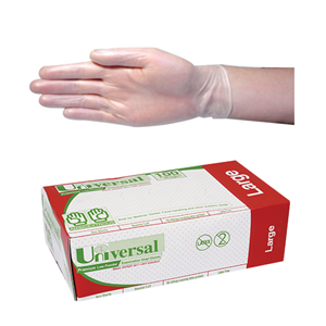 Universal Clear Latex Glove Large 100pk