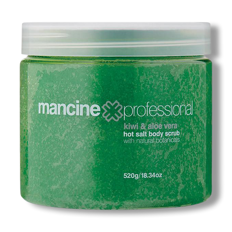 Mancine Hot Salt Scrub Kiwi & Aloe - 520g-Mancine Professional-Beautopia Hair & Beauty