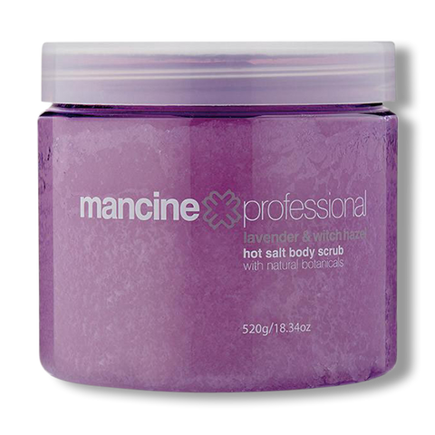 Mancine Hot Salt Scrub Lavender & Witchhazel - 520g-Mancine Professional-Beautopia Hair & Beauty