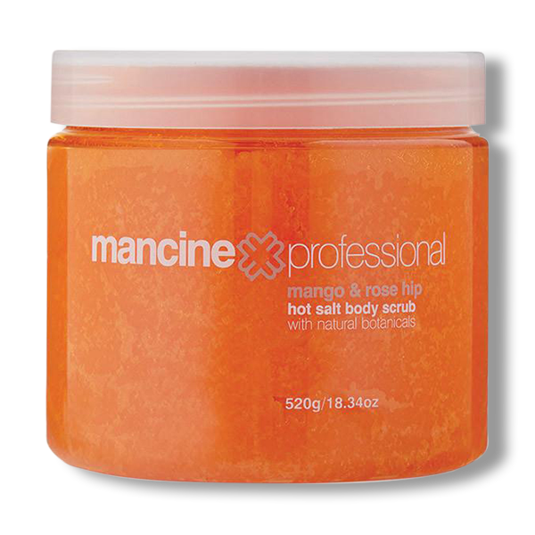 Mancine Hot Salt Scrub Mango & Rosehip Oil - 520g-Mancine Professional-Beautopia Hair & Beauty