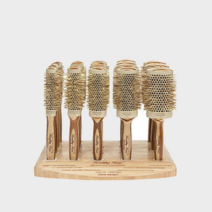 Olivia Garden Healthy Hair Eco-Friendly Bamboo Brush 19pc Stand