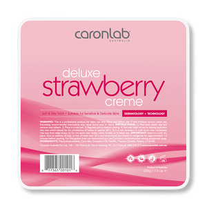 Caronlab Hard Wax Strawberry Creme - 500g-Caronlab-Beautopia Hair & Beauty
