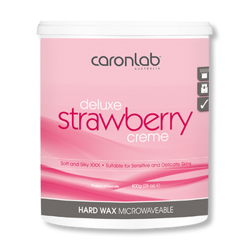 Caronlab Hard Wax Strawberry Creme - 800g-Caronlab-Beautopia Hair & Beauty