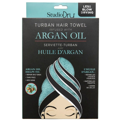 Studio Dry Argan Oil Infused Turban Hair Towel