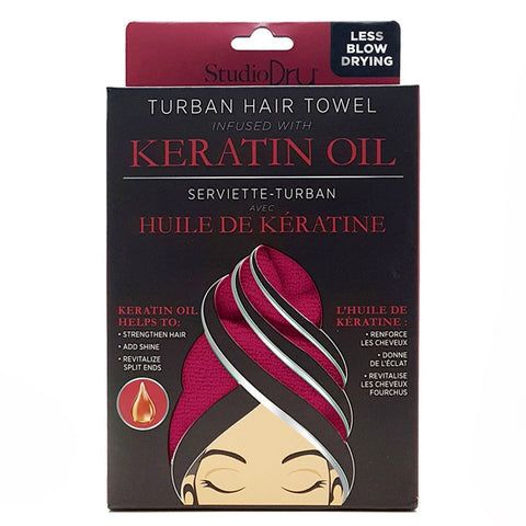 Studio Dry Keratin Oil Infused Turban Hair Towel