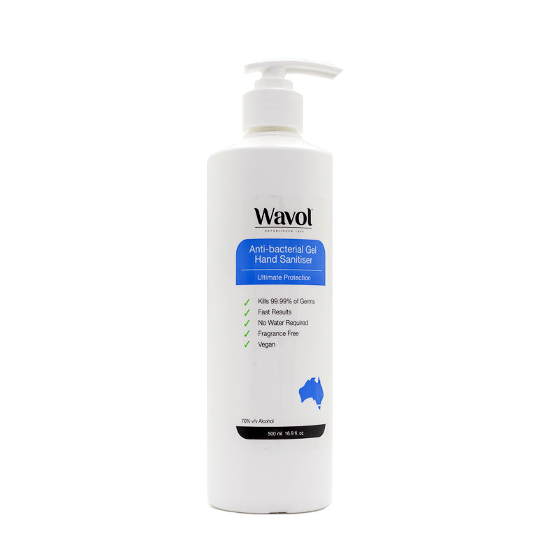 Wavol Anti-Bacterial Gel Hand Sanitiser 500ml