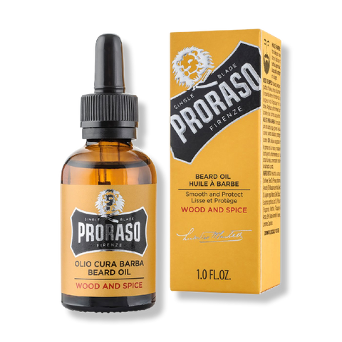 Proraso Beard Oil - Wood and Spice 30ml-Proraso-Beautopia Hair & Beauty