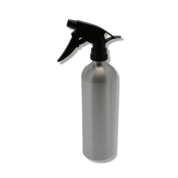 Santorini Aluminium Water Spray Bottle Silver 500ml