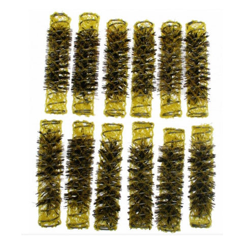 Santorini Brush Rollers - Yellow 15mm - 12pk