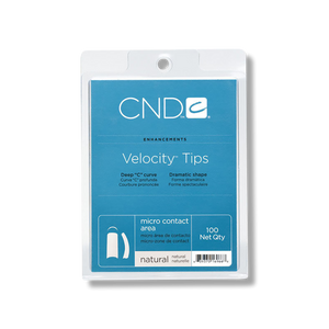 CND Velocity Tips 100CT Tray - Natural-CND-Beautopia Hair & Beauty