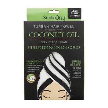 Studio Dry Coconut Oil Infused Turban Hair Towel