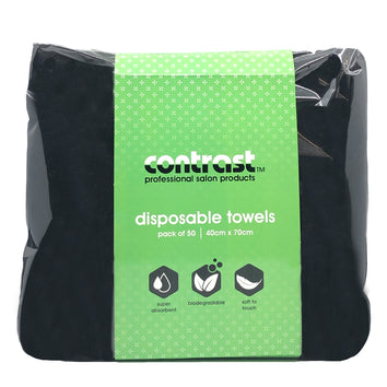 Contrast Disposable Towel 50 Pack - Beautopia Hair & Beauty