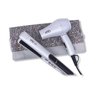 H2D Linear II Ice Hair Straightener and Travel Dry Set-H2D-Beautopia Hair & Beauty