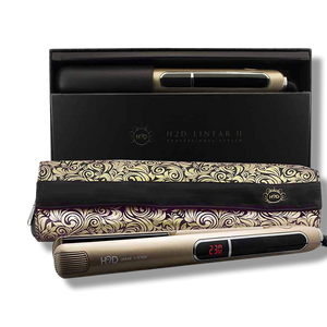H2D Linear 11 Gold Hair Straightener - Beautopia Hair & Beauty