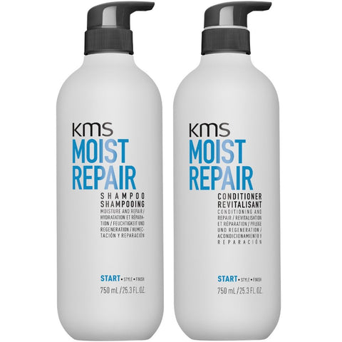 KMS Moist Repair Shampoo and Conditioner 750ml Duo Pack - Beautopia Hair & Beauty