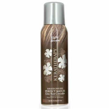 Keratherapy Perfect Match Root Concealer Light Brown 118ml-Keratherapy-Beautopia Hair & Beauty