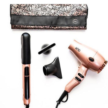 H2D Max Duo Rose Gold Hair Straightener and Dryer Set