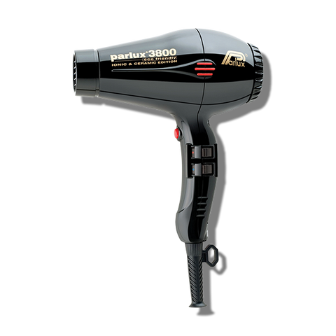 Parlux 3800 Ceramic & Ionic Hair Dryer - Black-Parlux-Beautopia Hair & Beauty
