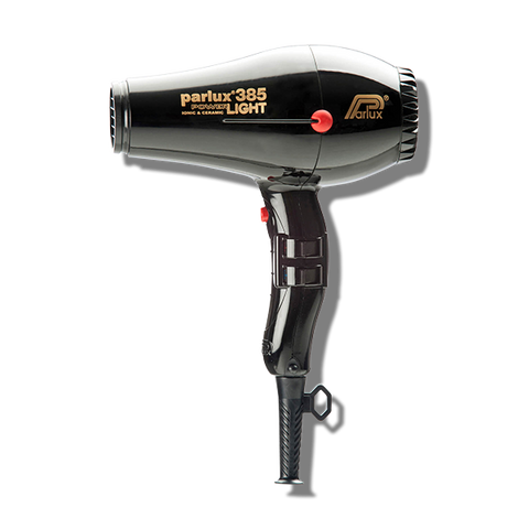 Parlux 385 Power Light Ceramic & Ionic Hair Dryer - Black-Parlux-Beautopia Hair & Beauty