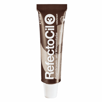 RefectoCil Eyelash & Eyebrow Tint - 3 Natural Brown 15ml-RefectoCil-Beautopia Hair & Beauty