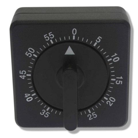 Mechanical Black Timer - Black-Beautopia Hair & Beauty Supplies-Beautopia Hair & Beauty