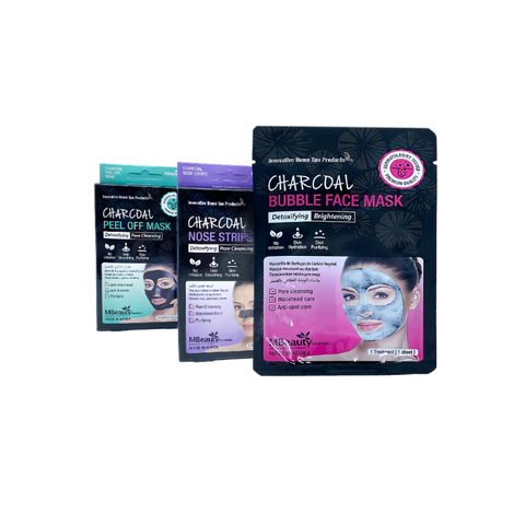 MBeauty Charcoal Masks & Nose Strips Bundle