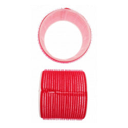 Santorini Velcro Rollers - Red 70mm - 6pk