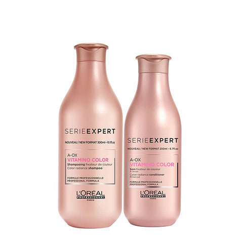 L'oreal Professional Vitamino A-OX Shampoo 300ml & Conditioner 200ml Twin