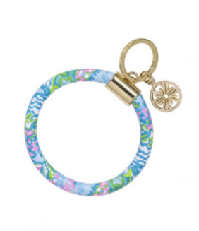 Lilly Round Key Chain Aqua La Vista