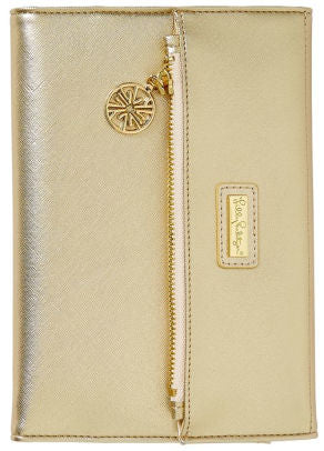 Lilly Pulitzer Gold Notepad Folio
