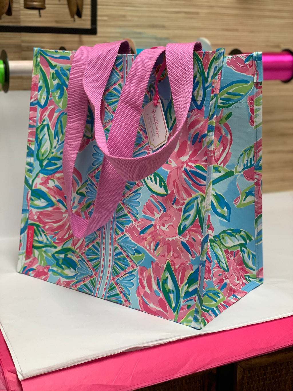 Lilly Market Tote Totally Blossom
