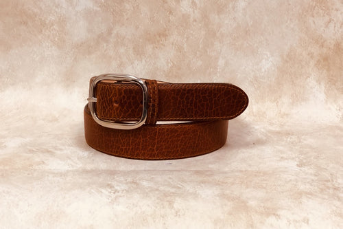 American Bison, Cognac with Stitching 1 1/2